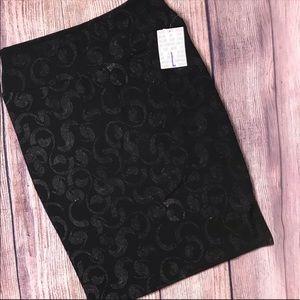 Lularoe Cassie Pencil Skirt L NWT